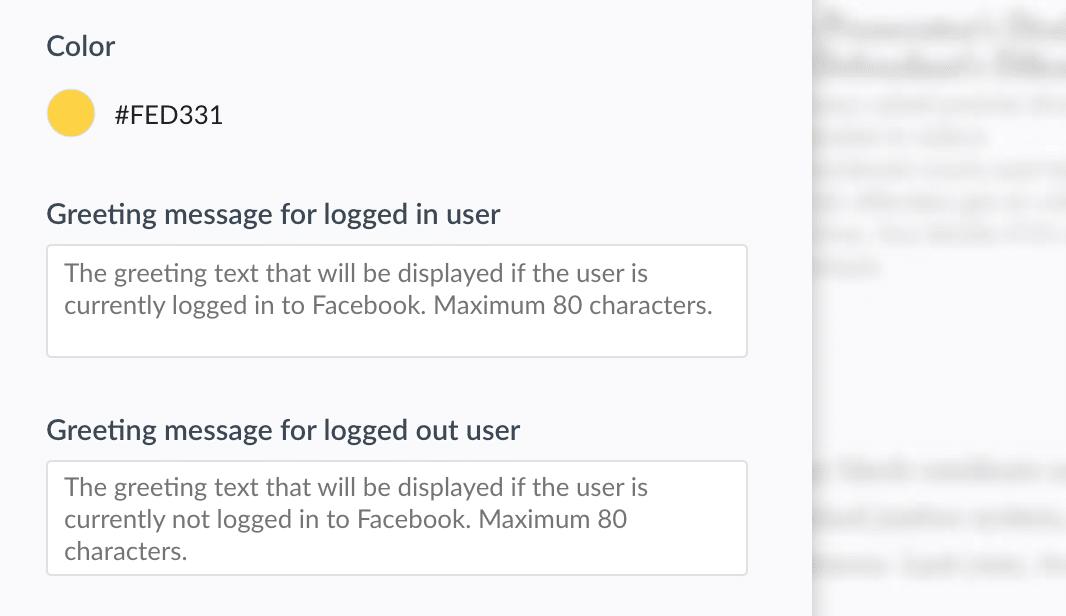 Change branding live chat