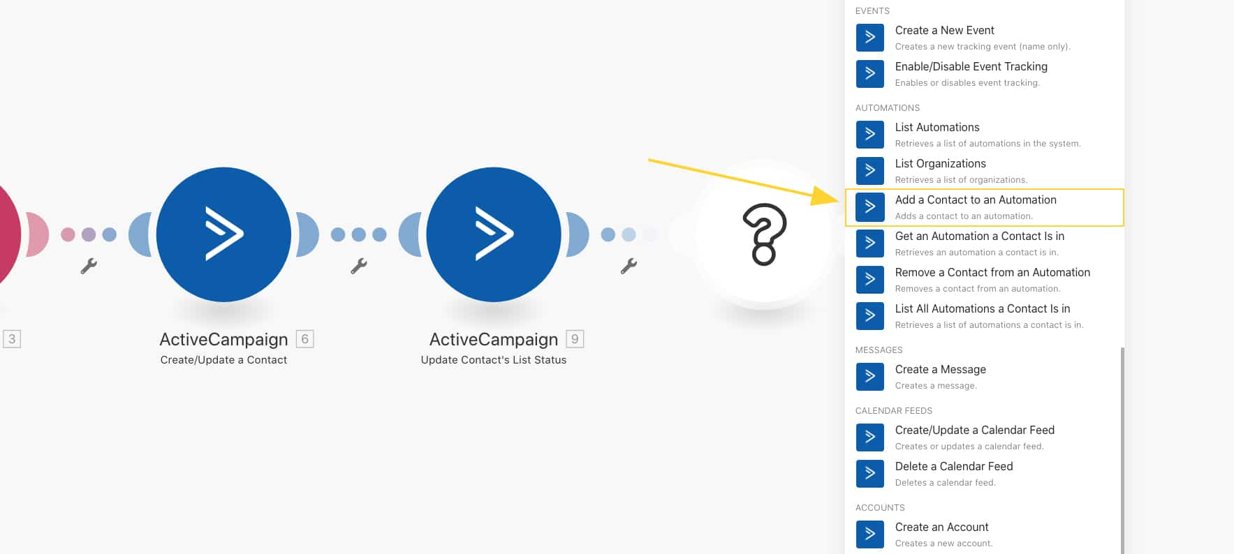 Create a new module to add contacts to an automation