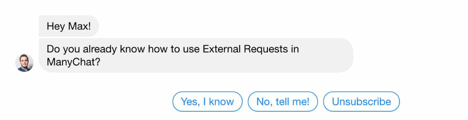 Asking if she knows what external requests are
