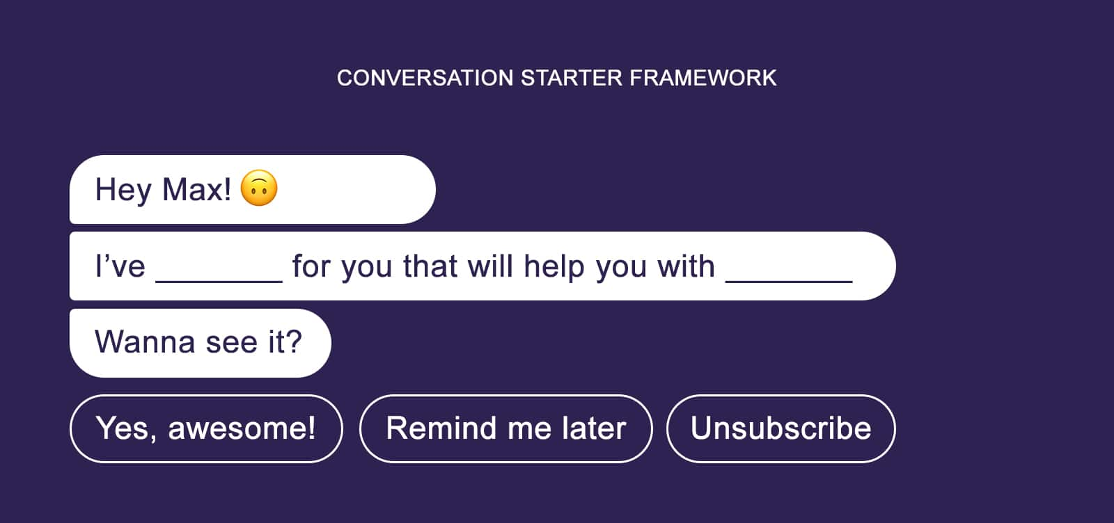 Conversation starter framework