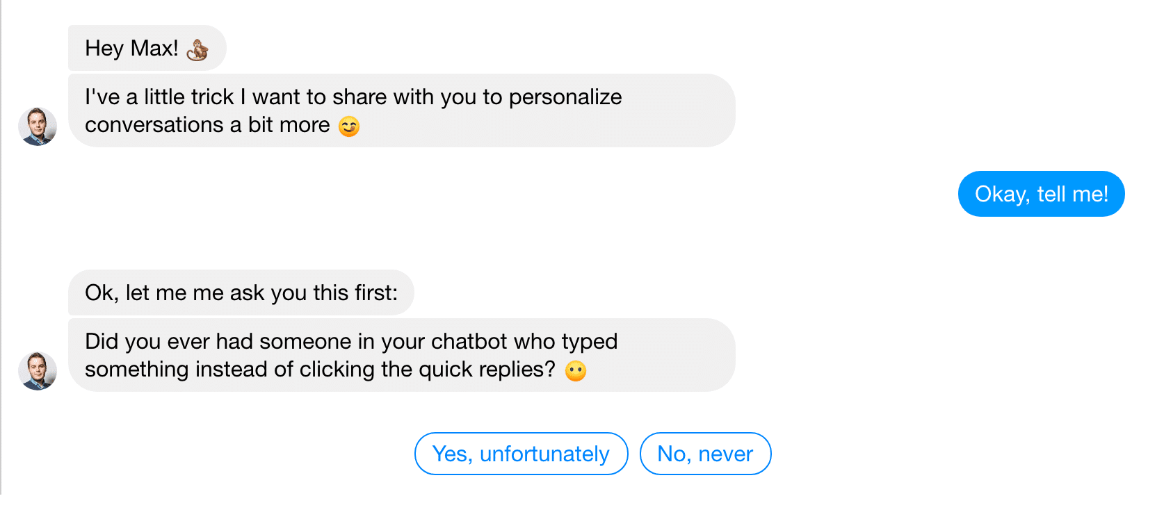 Emojis in Messenger Bot conversation
