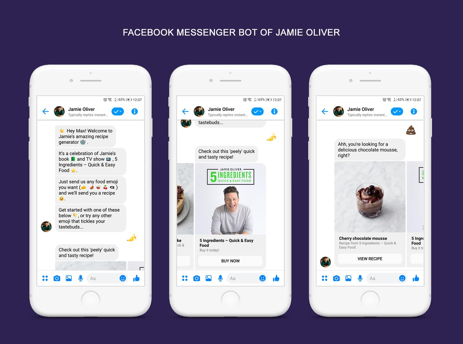 Facebook Messenger Bot of Jamie Oliver