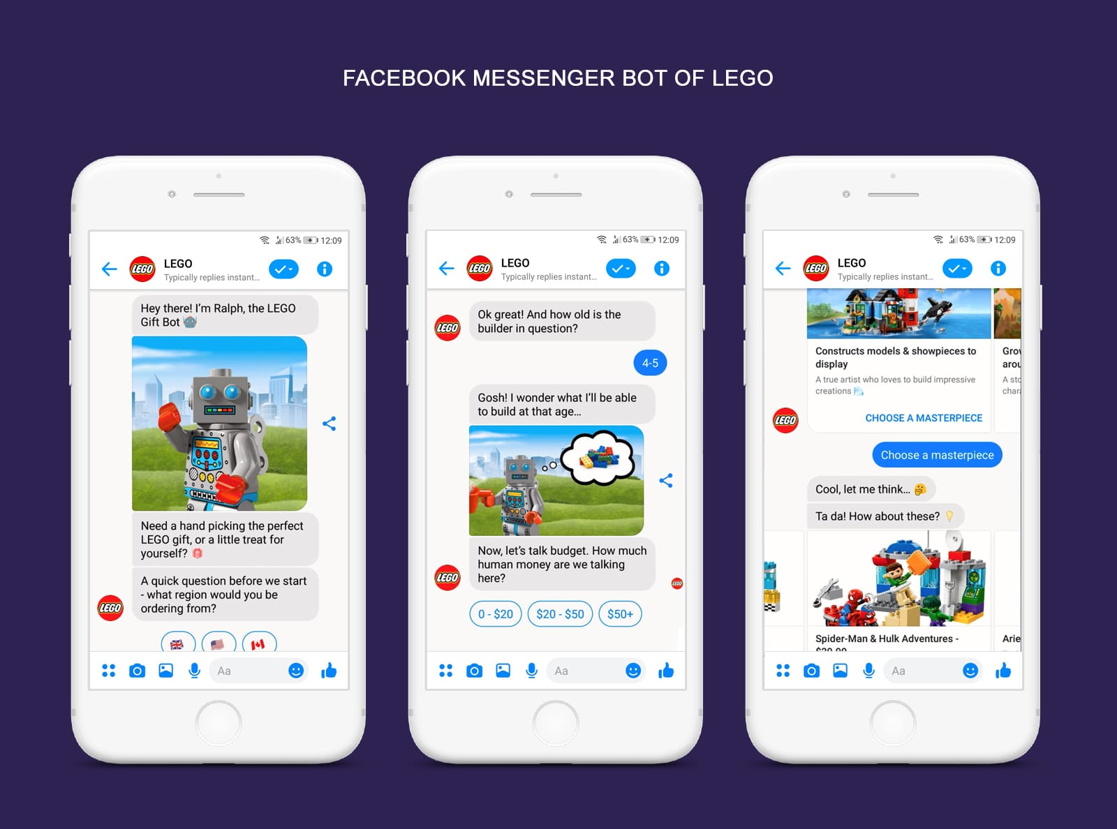 Facebook Messenger Bot of LEGO