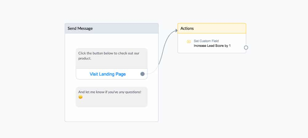 Increase lead score when visiting page