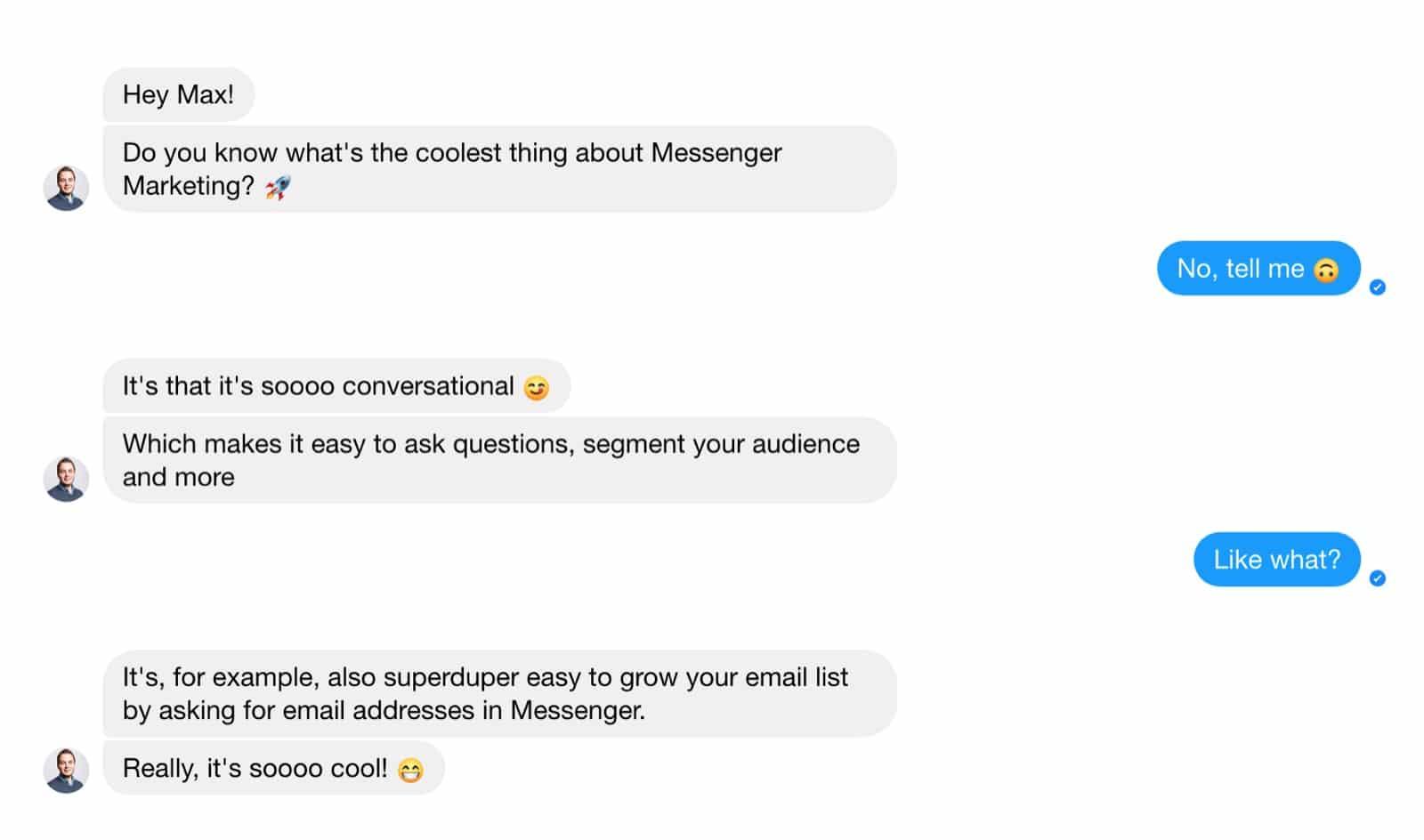 Natural conversation example