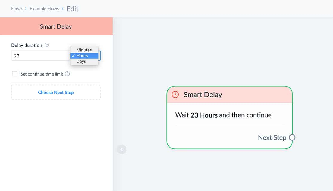 Smart Delay Example: 23 hours