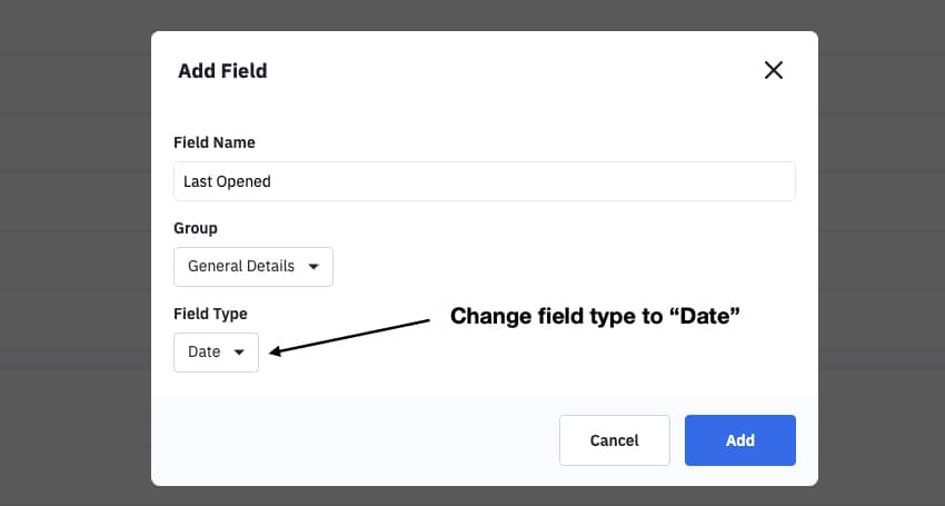 Add custom field to ActiveCampaign: Last Opened