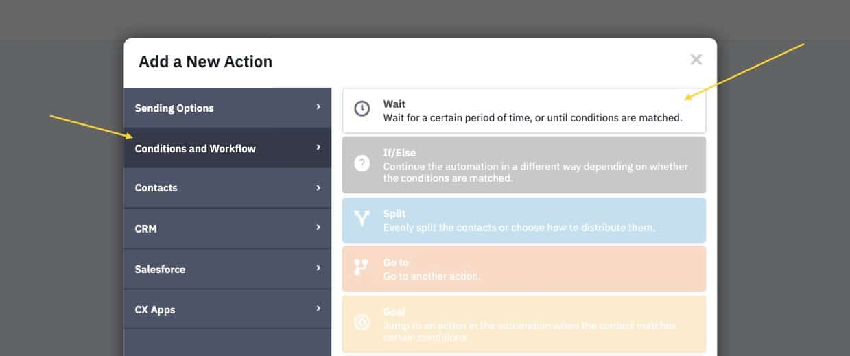 Add new wait action to your automation