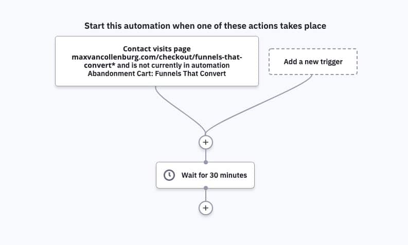 Add 30 minute wait to automation