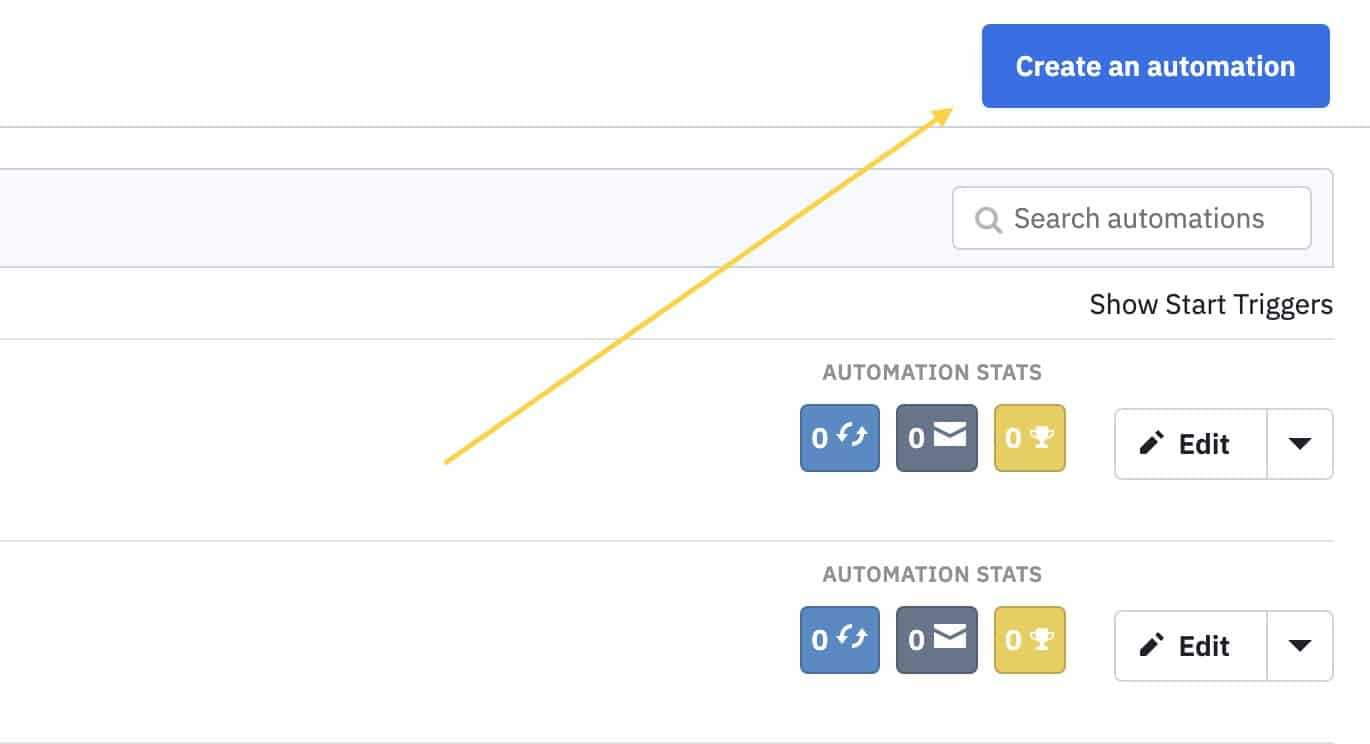Create automation button in ActiveCampaign